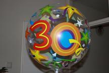 Leuke helium gevulde ballon per post