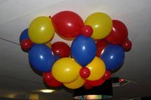 Versiering aan het plafond, diverse vormen/kleuren mogelijk