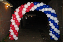 Ballonnenboog in thema USA, extra breed