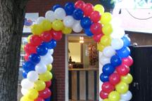 Ballonnenboog ter gelegenheid van verjaardag
